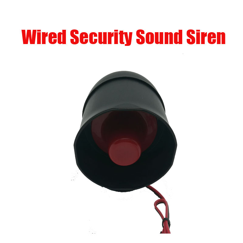 Free shipping Outdoor Wired Security Sound Siren Horn DC12V 15W 115dB Loud High Volume Home Intrusion Fire Alarm System ...