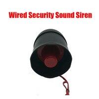 Kostenloser versand Outdoor Wired Sicherheits Ton Sirene Horn DC12V 15 Watt 115dB Laut High Volume Home Intrusion Brandmeldeanlage