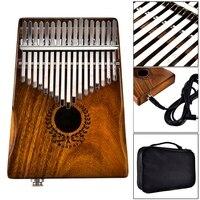 17 Key Finger Kalimba Mbira Sanza Thumb Piano Pocket Size Beginners Instrument