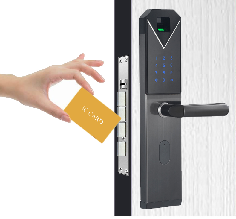 CYPATLIC JCF3325B Sliver Color Stainless Steel Fingerprint Lock Porta Safe Electronic Lock With English Audio Guide - 4