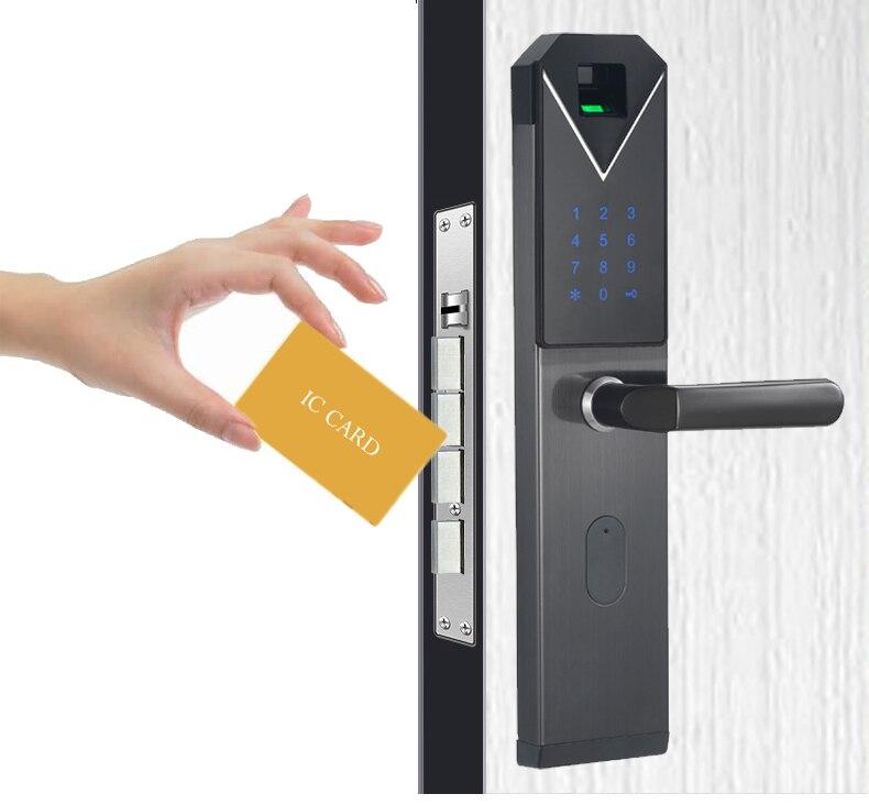 CYPATLIC JCF3325B Sliver Kleur Rvs Vingerafdruk Slot Porta Veilig Elektronisch Slot Met Engels Audio Gids - 4