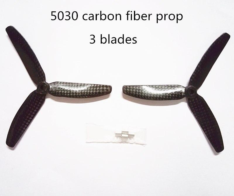 ₪Fibra de carbono 5030/6030 puro prop 3 (CW/CCW) para DIY FPV mini ...