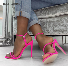 2019 Summer Fashion New Sexy Gladiator Sandals Shoes Women Thin High Heels Open Toe Lady Cross-tied Ankle Strap Shoes Size 36-41 недорого