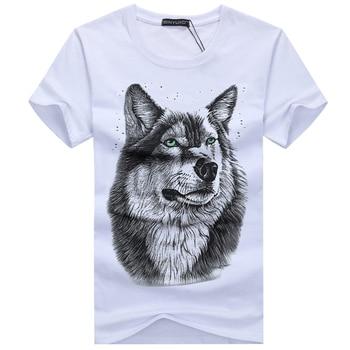 3D Wolf head T-shirt
