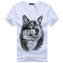 BINYUXD New Summer Brand large size 3D Wolf head T-shirt man round collar short sleeve T-shirt men fashion t shirt short sleeves