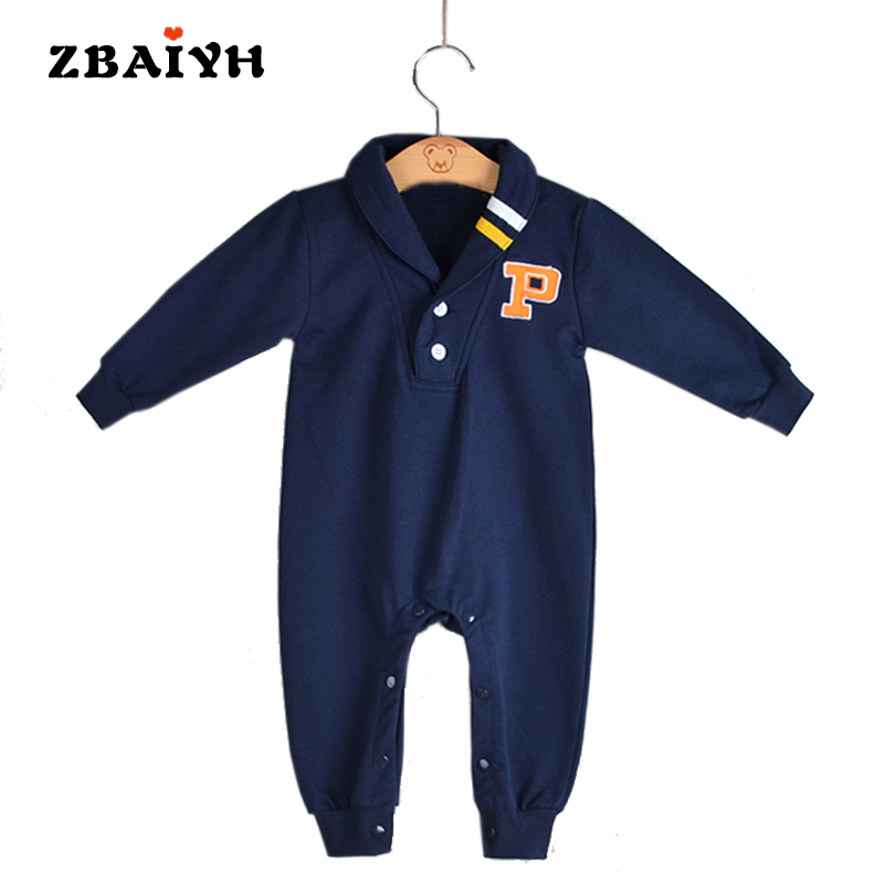 ZBAIYH Rompers Baby Boy Romper 100% Cotton Newborn Baby Clothes Long Sleeve Baby Girl Winter Clothing Lucky Child Print Jumpsuit