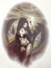 21 X 15 CM Sized Sexy Devil Girl Cool Beauty Tattoo Waterproof Hot Temporary Tattoo Stickers#104