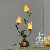 American style garden table lamp retro personality romantic flowers European living room bedroom study lightin lamps ZA ZL376