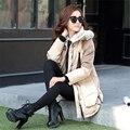 Fashion Down Jacket Women Winter Coat Fashion Thick Lady White Duck Down Garment With Hood Warm Black Green Beige  A041