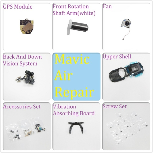 Original Repair Parts For DJI Mavic Air GPS Moudle Shell Rotation Shaft Arm SD Cover Screw Set Power Board Cable Visual System..