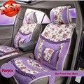 Женщины Милый мультфильм зима автомобиля тепло подушки сиденья устанавливает и авто аксессуары автокресло поддержка сиденья наборы для 5 мест, установленных автомобиль