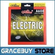 Electric Bass String 4-string set (040 060 075 095) Hexagonal Core Nickel Alloy Wound – Alice A608(4)-L encordoamento