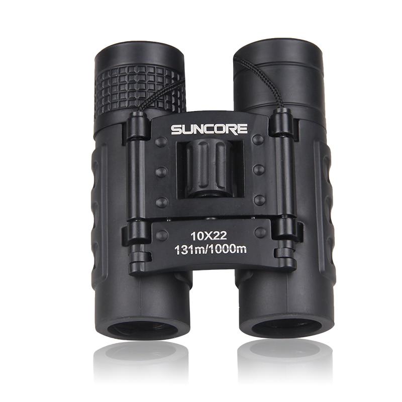 SUNCORE Hunting Military Pocket Binoculars HD 10x22 Binoculars Professional High Quality Telescope Zoom Vision Lightweight Black