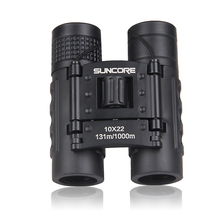SUNCORE Hunting Military Pocket Binoculars HD 10x22 Professional High Quality Telescope Zoom Vision Lightweight Black