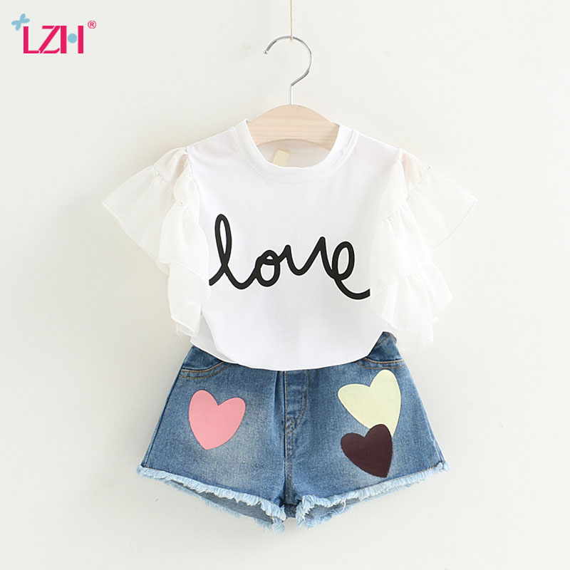 Children Clothing 2018 Summer Girls Clothes T-shirt+Shorts Christmas Outfits Kids Clothes Tracksuit Toddler Girls Clothing Sets denimseason 2018 spring tracksuit girls sets girl overalls girls t shirt kids clothes children clothing kids overalls denim chic