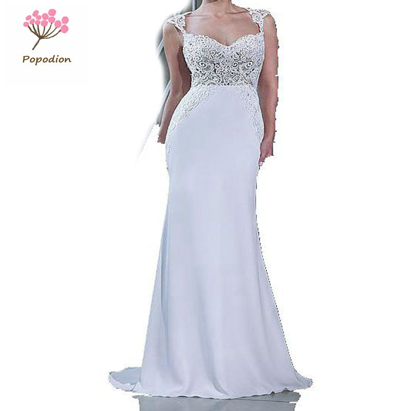 Wedding Dresses With Detachable Tail: Aliexpress.com : Buy Popodion Bridal Gowns 2in1 Mermaid