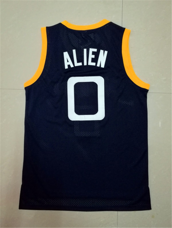 Alien #0 Monstars Basketball Jersey Stitched Navy Space Jam