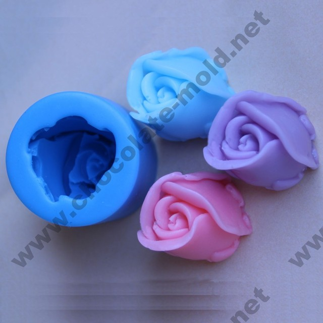 3D Rose Chocolate mold Cake decoration molds Silicone soap mould BKSILICONE AC009