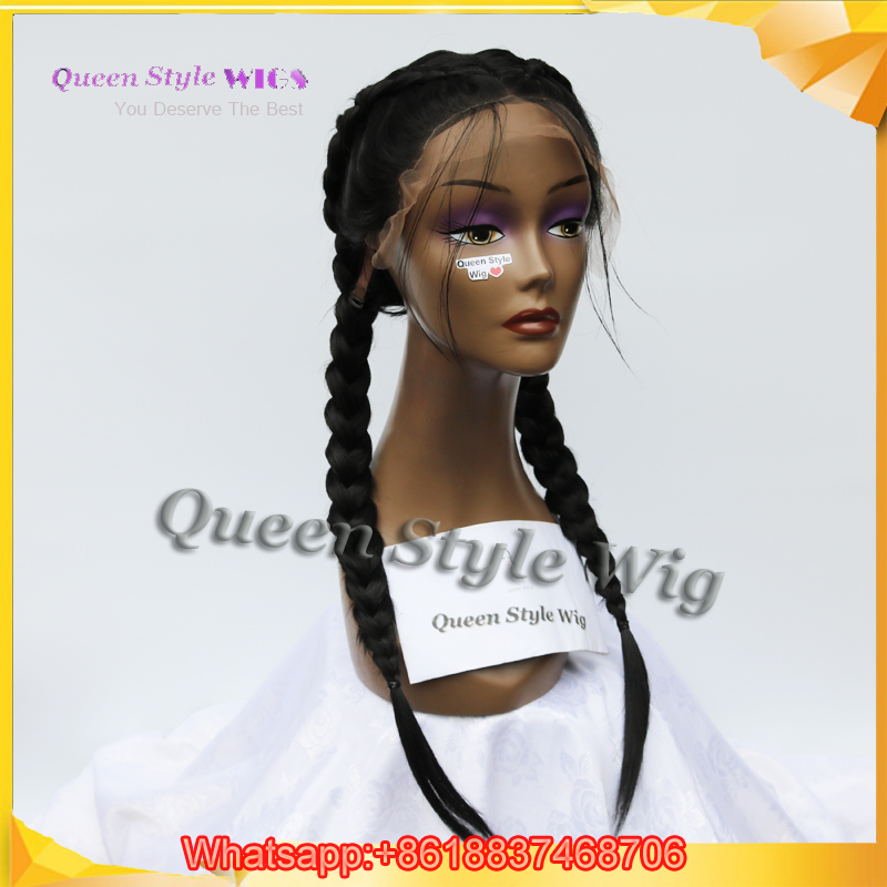 New Arrival Double Dutch Braids Wig Twin Braided Lace Front Wigs