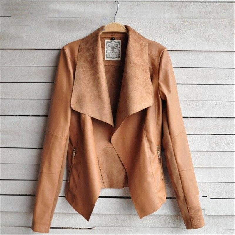 Online Shop Fashion 2015 Spring Autumn Women Faux Soft Leather ...