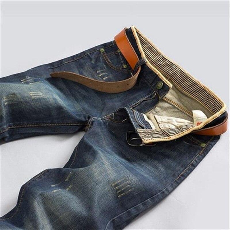 Hot Sale 2016 Jeans Men Straight Trousers Striped Designer