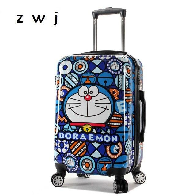 24 Dessinée Voyage Enfants 20 Roulettes Universelles Bagages Roues Enfant Sur Valise Doraemon À Bande Sac Inch Chariot Inch Carry qf8CA