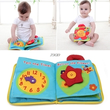 2017 Cloth Book Baby Kids Intelligence Development Educational Learning Toys 12 Pages APR22 30