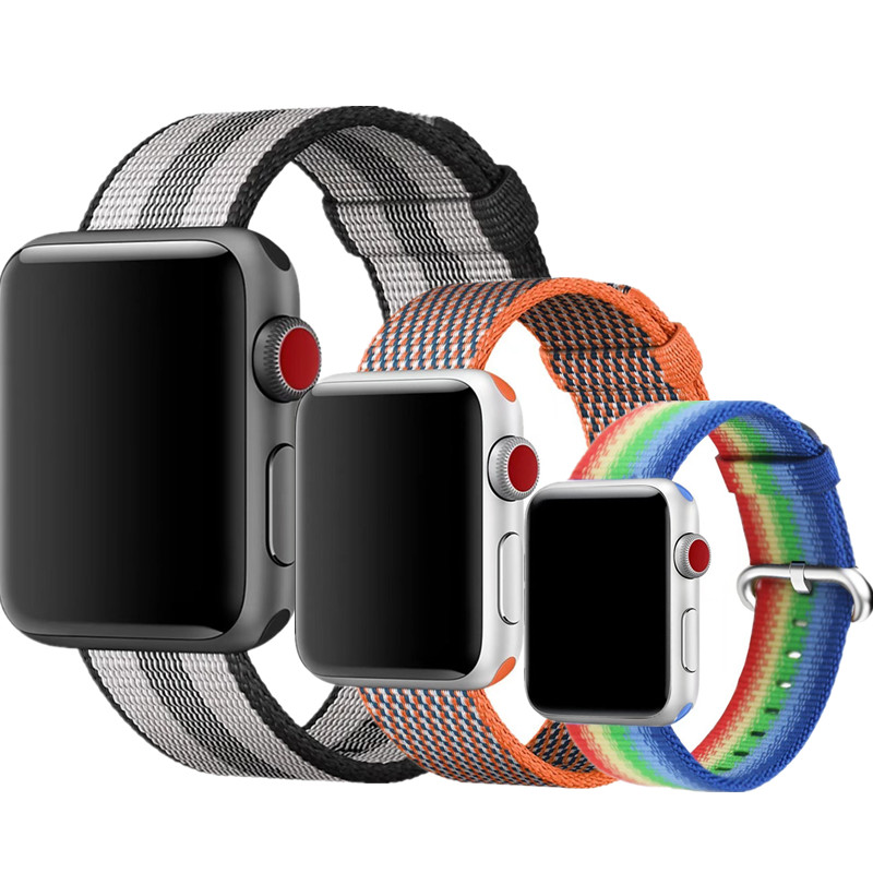 ASHEI Fine Woven Nylon Buckle Strap for Apple Watch 3 Band 42mm Watchbands Replacement Wrist Band for iWatch 2 1 38mm Bracelet