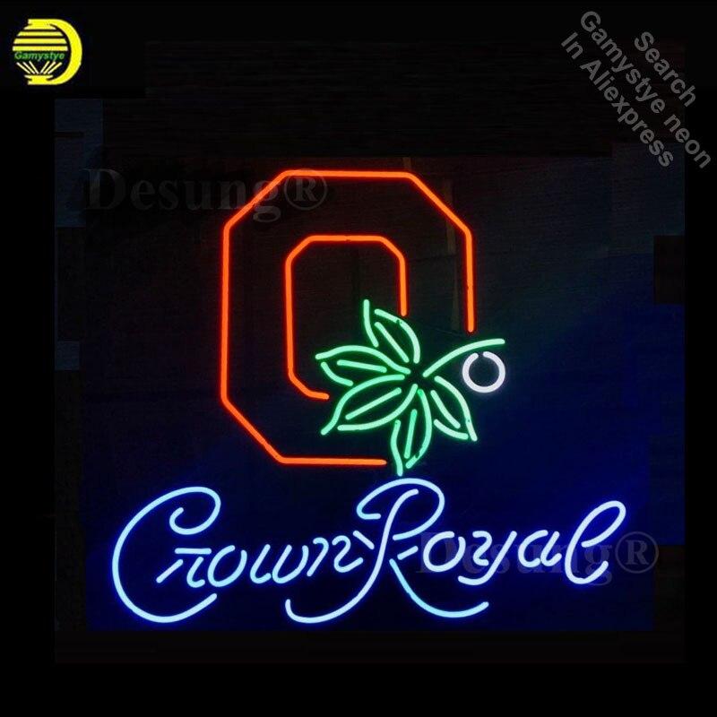 Enseigne royale de la couronne de l'équipe OSB de sport enseigne au néon faite à la main
