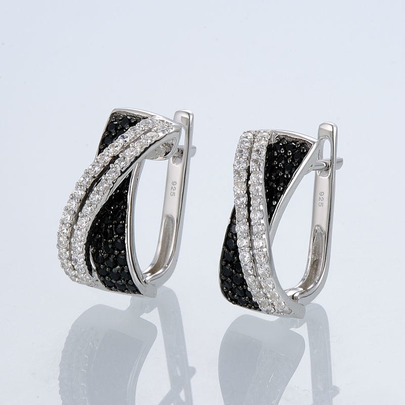 Silver Earrings E303189BSNZSL925-SV4-W