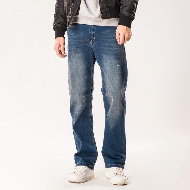 Jeans Men 2019 Autumn New Denim Trousers Man Solid Color Fashion Casual Large Size Loose Straight Wide Leg Cowboy Pants Male