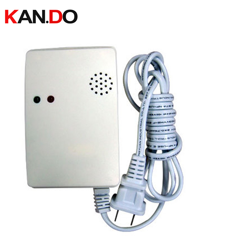 220V gas leakage detector alarm suitable for Natural gas and LPG detector gas leakage alarm siren alarm for gas golden security lpg detector wireless digital led display combustible gas detector for home alarm system