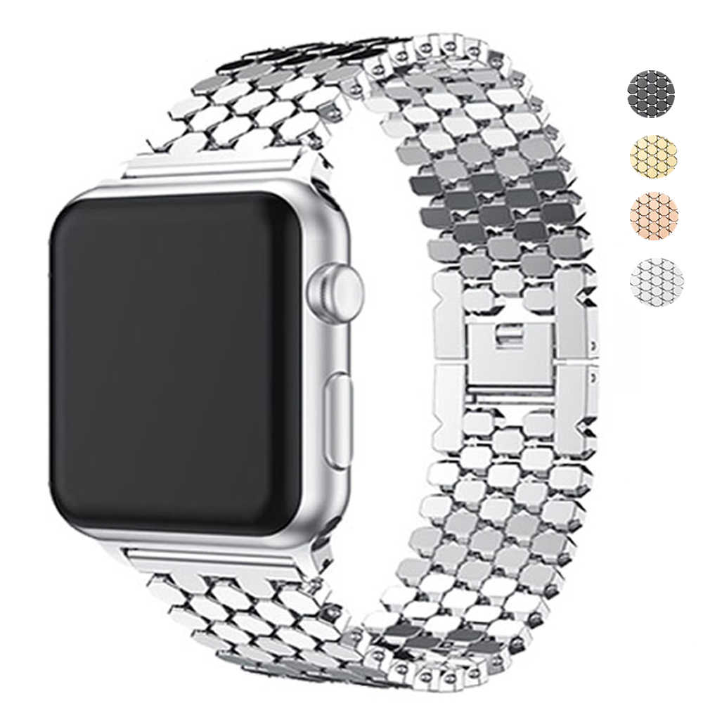 Watch Bands For Apple Watch 42mm Series 4 3 2 Band Stainless Steel Replacement Strap Bracelet For iWatch 4 40mm 44mm 38mm strap