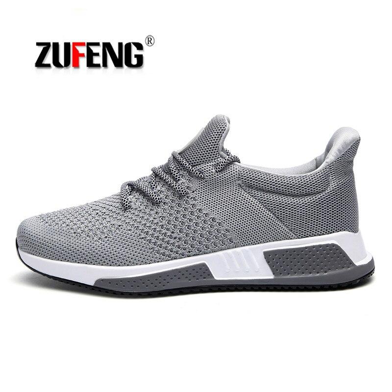 5401c2e3035f1 ... Air Mesh Chaussures de Course pour Hommes Respirant Sport En Plein Air  Formateurs Sneakers D amortissement à Ressort Mâle Marche Sneakers  Livraison ...