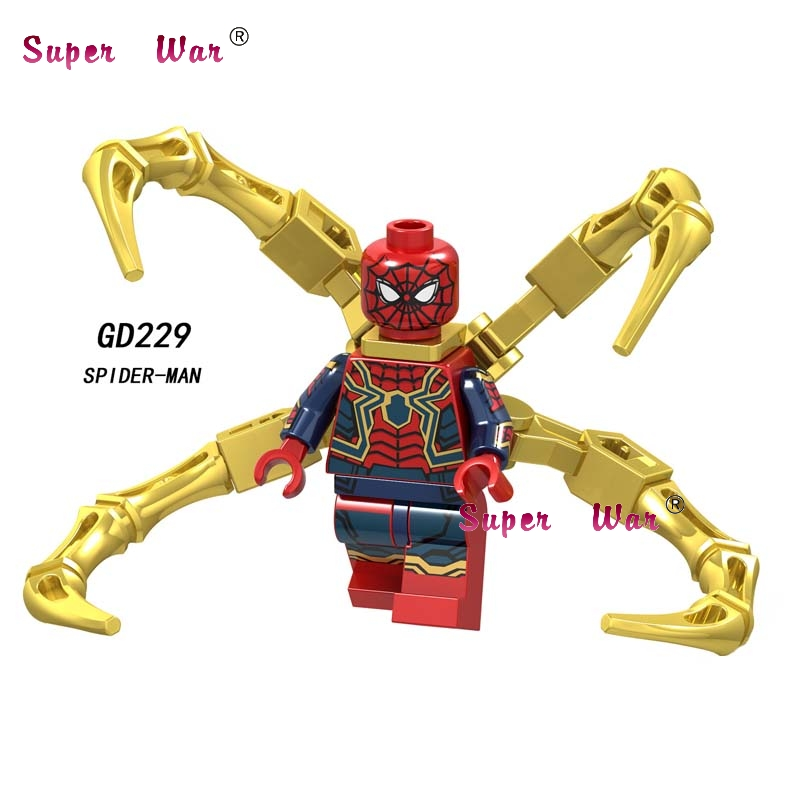 Kids Toys Building-Blocks Spiderman Thor Mysterio-Iron Captain-America Movie-Far Single-Marvel