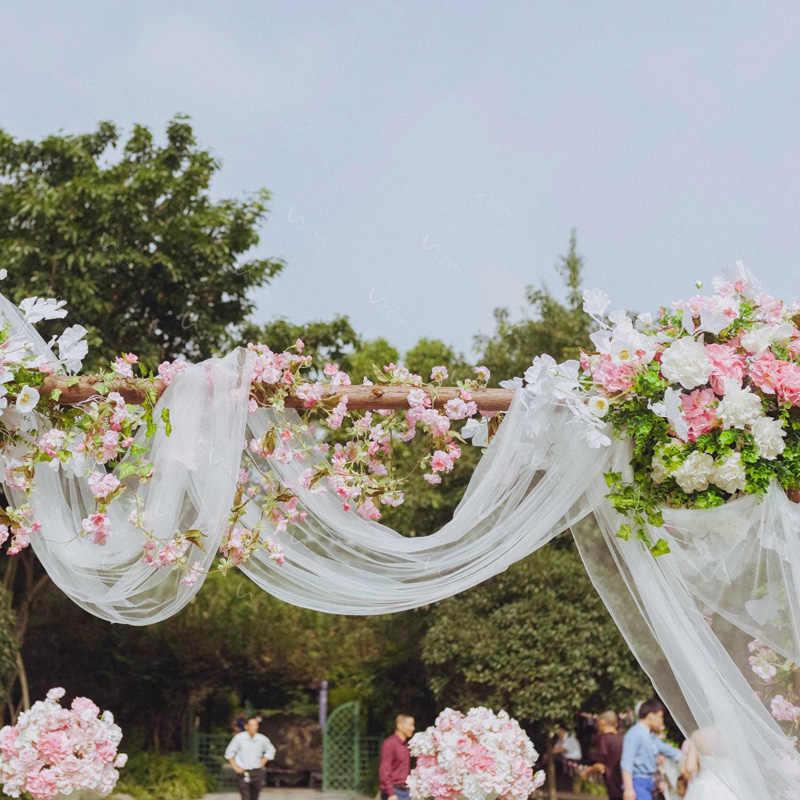 48cm * 10m rollo de tul cortinas de tul carrete decoración del hogar tutú de tul decoración de la boda Vestido de seda Organza DIY suministros para fiestas 5Z