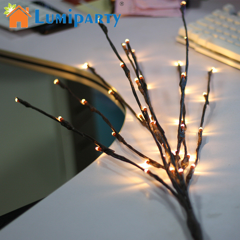 LumiParty Retro LED Branch Lamp Creative Night Light Tree Warm Light Lamp Festival Wedding Party Indoor Decoration Gift mipow btl300 creative led light bluetooth aromatherapy flameless candle voice control lamp holiday party decoration gift