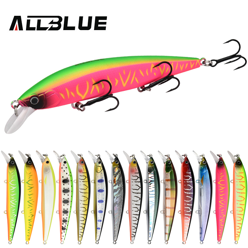 ALLBLUE SHANKS 110SP Wobbler Suspend Jerkbait Fishing Lure 110mm 15g Plastic Minnow Bass Pike Artificial Hard Bait Tackle allblue new jerkbait professional 100dr fishing lure 100mm 15 8g suspend wobbler minnow depth 2 3m bass pike bait mustad hooks