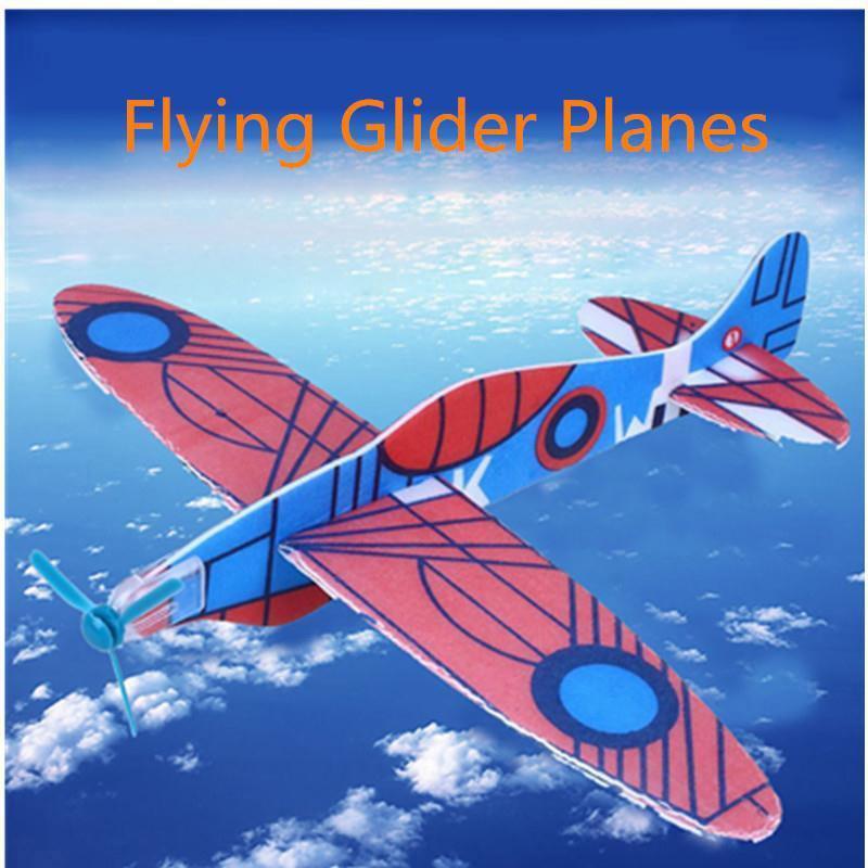 2017 12pcs Diy Hand Throw Flying Glider Planes Foam