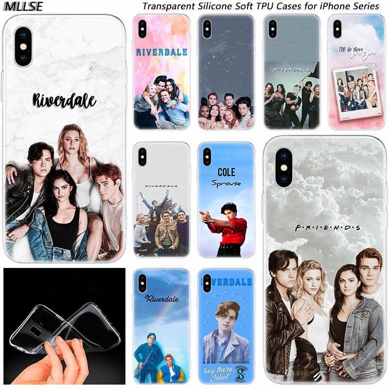 Riverdale South Side Serpents Fashion Silicone Case Cover for Apple iPhones 7 8 Plus 6 6s Plus 5 XI XIR X XR XS MAX Soft Case