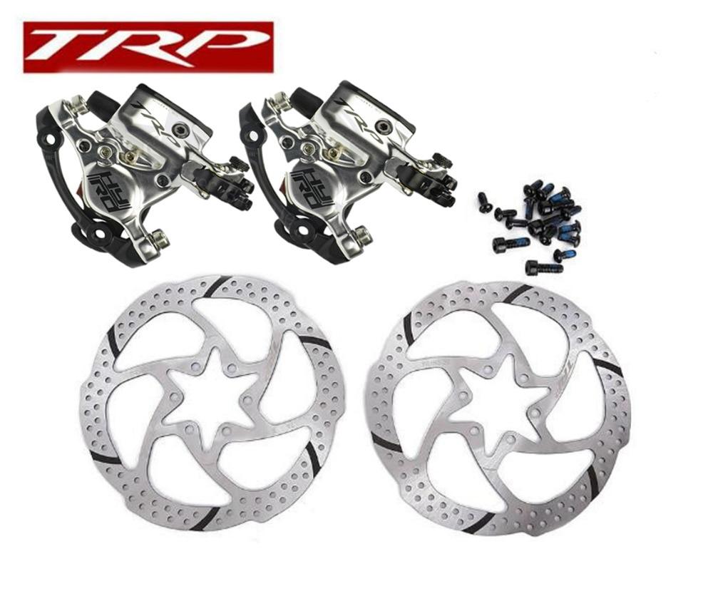JUIN TECH R1 Hydraulic Disc Brake Set W//160mm Rotors Black vs TRP HY//RD