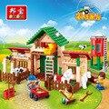 Kits de edificio modelo compatible con lego Happy Farm 3D modelo de construcción bloques Educativos juguetes y pasatiempos para niños