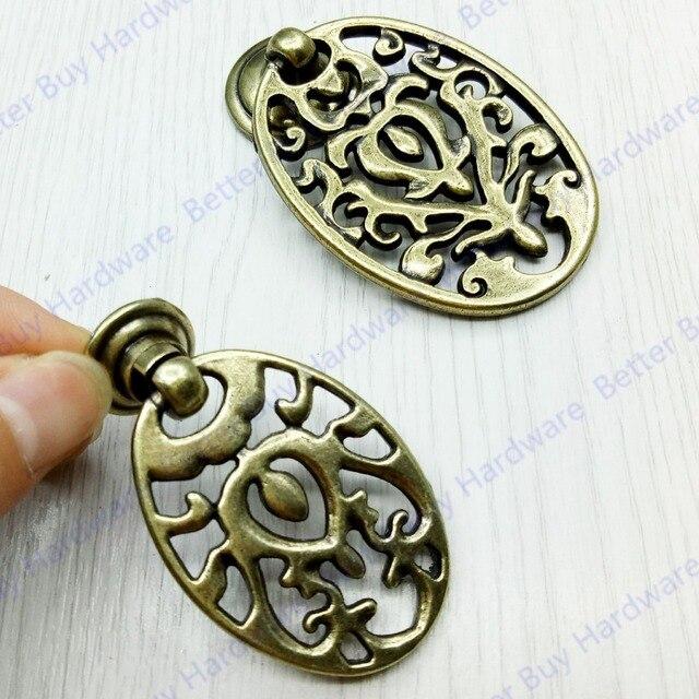 Aliexpress.com : Buy Oval handle Furniture Antique brass door ...