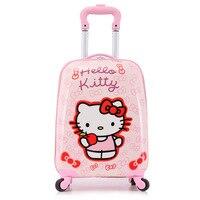 Оптовая продажа! 18 милые pp Hello Kitty/мышь/принцесса путешествия багажные сумки для детей, с рисунками для детей Универсальный Багаж чемодан