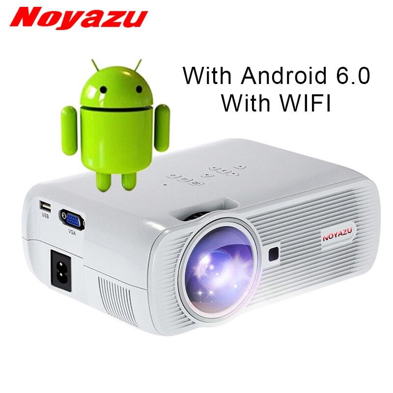 NOYAZU Nouveau BL80 Intelligent Android 6.0 WIFI Portable HD LED TV Projecteur 3D pour home cinéma LCD projecteur vidéo projecteur beamer