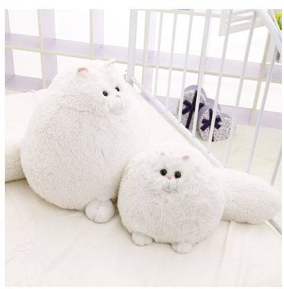 free shipping RunningMan white persian cat doll simulation cat plush toys tail cat children's Day gift animal doll hot sale lps pet shop toys rare black little cat blue eyes animal models patrulla canina action figures kids toys gift cat free shipping