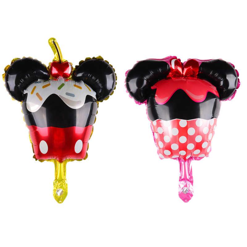 Mini bolo de Folha De Minnie mickey Balões de Casamento decoração fontes do partido criança Balão de Festa de aniversário crianças
