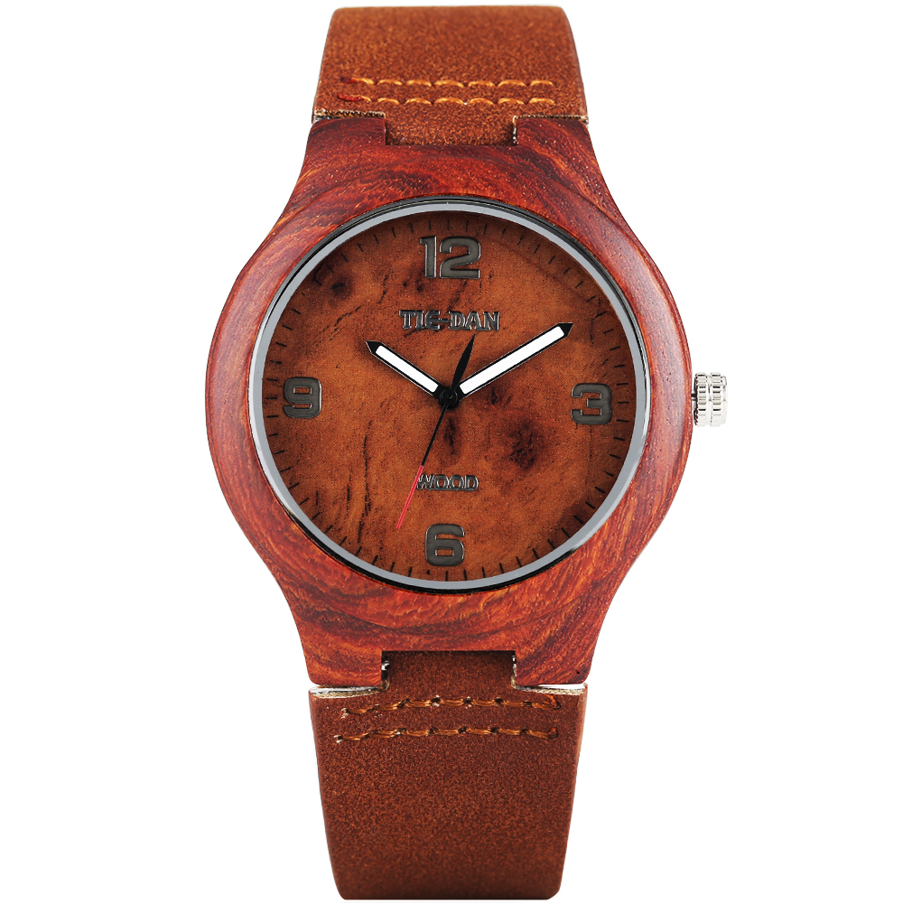 New Arrival Genuine Leather Band Strap Arabic Numbers Fashion Wrist Watch Bamboo Men Nature Wood Women Quartz Gift Relojes Gift creative wooden bamboo wrist watch genuine leather band strap nature wood men women quartz casual sport bangle new arrival gift