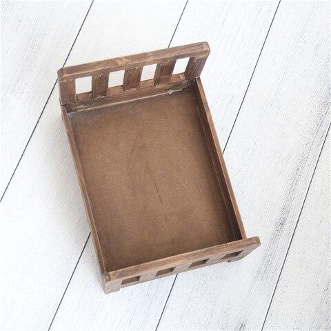 vintage recem nascido cama fotografia aderecos madeira