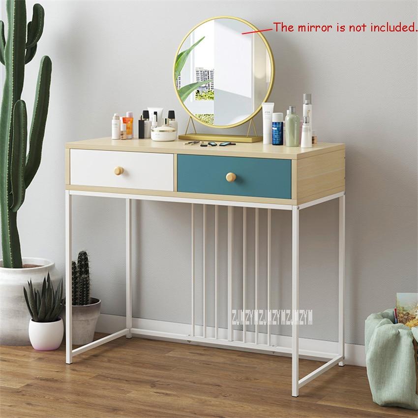 B2531/B2532 Creative Makeup Table With Drawer Bedroom Furniture Manmade Board steel frame Dresser Modern Simple Dressing Table
